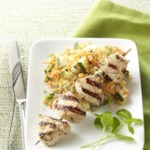 Tandoori Turkey Kebabs with Couscous