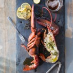 Grilled Lobsters with Herb-Garlic-Lemon Butter