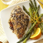 Balsamic Chicken with Roasted Orange Asparagus