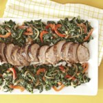 Cocoa Roasted Pork with Wilted Kale