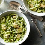 Zucchini Noodles with Pesto & Chicken