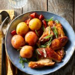 Pressure-Cooker Chicken, Potatoes & Peppers