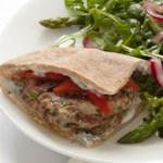 Pork Burgers with Feta-Rosemary Spread