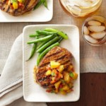 Pork Chops with Jalapeno-Peach Chutney