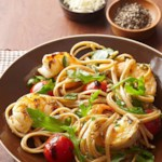 Skewered Shrimp and Tomato Linguine