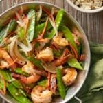 Shrimp and Pea Pod Stir-Fry