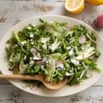 Snap Pea Salad with Lemon and Feta