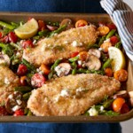 Greek Chicken with Roasted Spring Vegetables and Lemon Vinaigrette