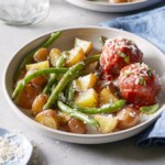 Meatballs with Roasted Green Beans & Potatoes