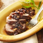 Tarragon Pork with Rich Onion-Cherry Chutney