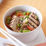 Marinated Tofu with Edamame Stir-Fry
