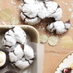 Chocolate-Mint Crinkle Cookies