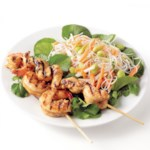 Miso-Marinated Shrimp and Chicken Skewers