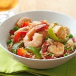 Skillet Chicken and Shrimp Paella