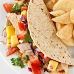 Limey Chicken Tacos with Mango Salsa