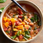 Pork, Farro, Bean, and Sweet Potato Stew