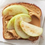 Peanut Butter and Apple-Cinnamon Topped Toast
