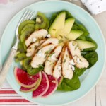 Chicken, Kiwi and Avocado Salad
