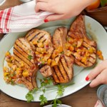 Chipotle Grilled Pork Chops with Grilled Apricot Salsa