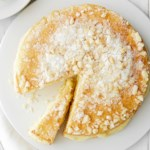 White Chocolate Pudding Cake with Macadamia Crust