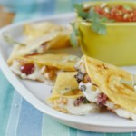 Walnut and Olive Quesadillas
