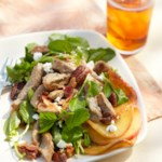 Bold Watercress and Pancetta-Apple Salad with Candied Pecans