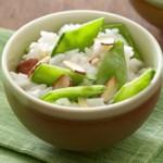 Coconut Rice with Snow Peas