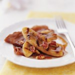 Chocolate Crepes with Banana-Pecan Topping