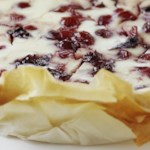 Cranberry Phyllo Cheesecake