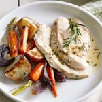 Roasted Chicken with Lemon and Roasted Root Vegetables
