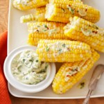 Corn on the Cob with Cilantro-Lime Butter