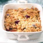Pear-Cherry Crisp with Pine Nut Topper