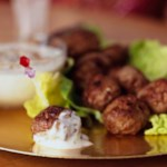 Lamb Meatballs with Cucumber Raita