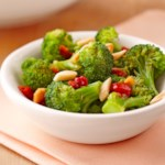 Broccoli with Roasted Red Pepper