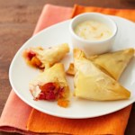Fruit Triangles with Honey Orange Dipping Sauce