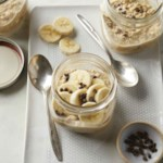 Peanut Butter-Chocolate Chip Overnight Oats with Banana