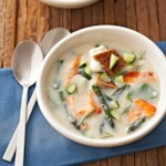 Dilled Salmon & Asparagus Soup