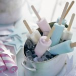 White Chocolate-Berry Pops