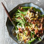 Green Beans with Hard-Boiled Eggs, Fried Shallots & Bacon