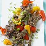 Grilled Island Beef Skewers with Tangy Citrus Drizzle