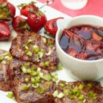 Grilled Steaks with Strawberry-Wine Pan Sauce