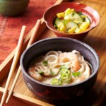 Thai Shrimp-Coconut Soup with Mango Cucumber Salad