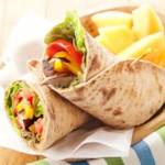 Grilled Portobello & Red Pepper Wraps
