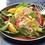 Spinach Chicken Salad with Mango Dressing