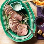 Garlic-Rosemary Roast Beef with Horseradish Sauce