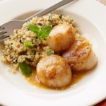 Seared Scallops with Citrus-Ginger Quinoa