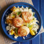 Thai Coconut Basmati Rice with Seared Scallops