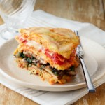 Macaroni Pancakes with Mushrooms, Spinach & Tomatoes