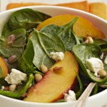 Peach & Spinach Salad with Feta