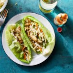 "Chicken Tacos in Cabbage ""Tortillas"""
